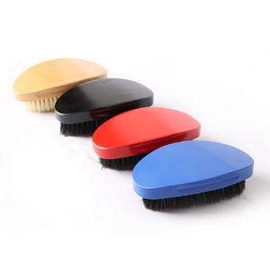 360 wave brush curved shape wave beard comb and brush wooden beard brush for shaping & styling