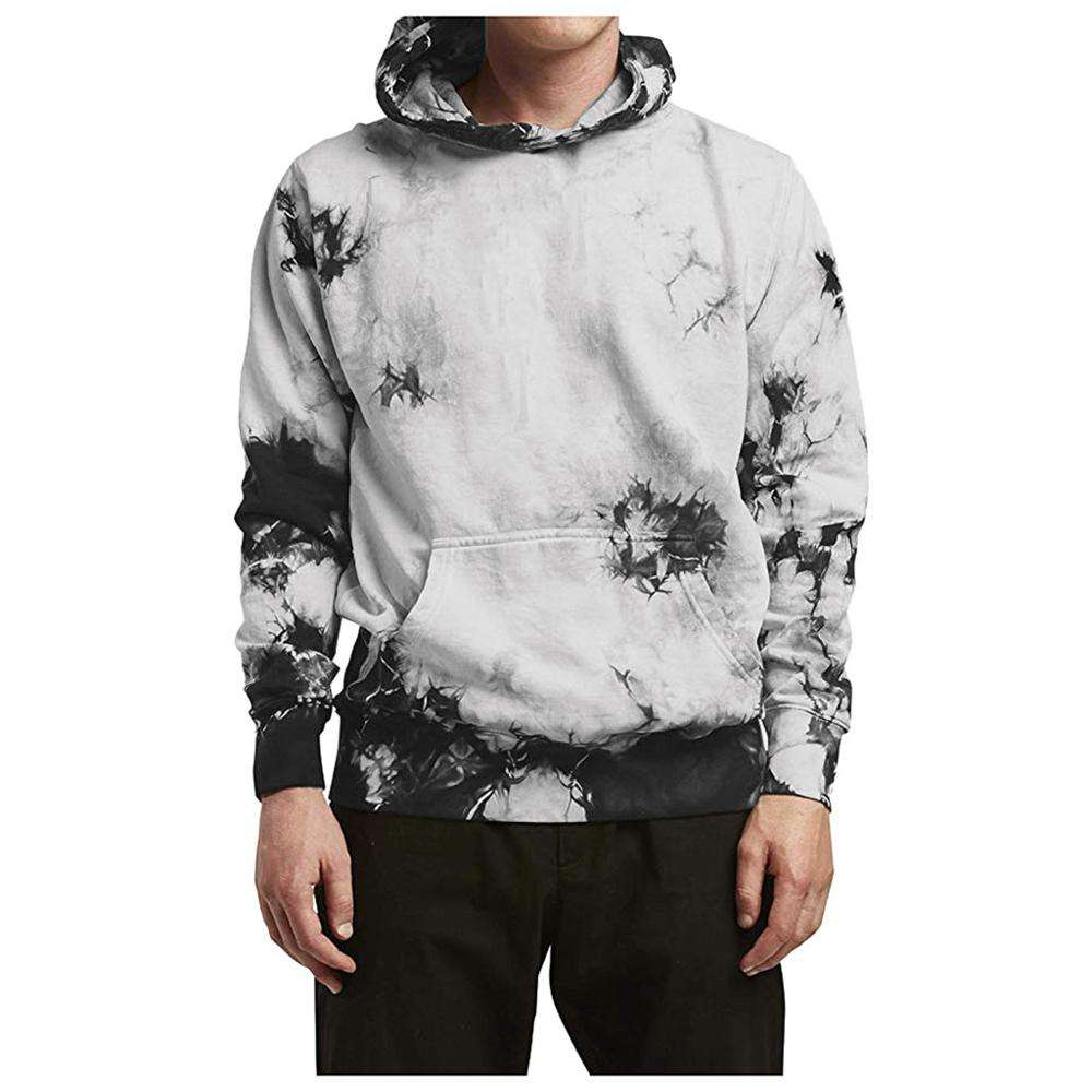 Custom Oversized Pullover 320GSM 95% Cotton Hip Hop Tie Dyed Hoodie For Men