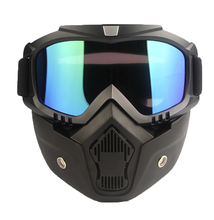 Outdoor Sports Harley Goggles Motorcycle Protective Glasses Riding Mask Half Face Cover with Mirror Lens