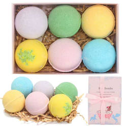 making children bath bombs  for kids  packing  bath  fizzy   vegan gift set private label with box