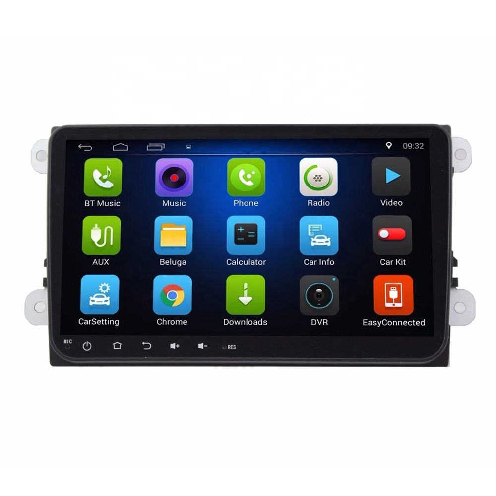 Großhandel Android 9,0 System WIFI Bluetooth Navigation DVD Player 9 Inch Touchscreen für <span class=keywords><strong>VW</strong></span> Magotan Golf Polo Tiguan Passat b7