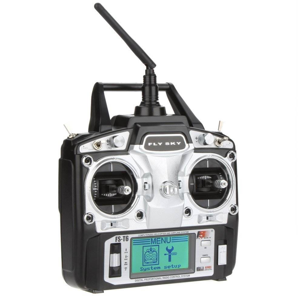 Original Flysky FS-T6 High Precision 2.4GHz 6CH Mode 2 Transmitter W/Receiver R6-B rc飛行機2.4 2.4ghzのトランスミッタ