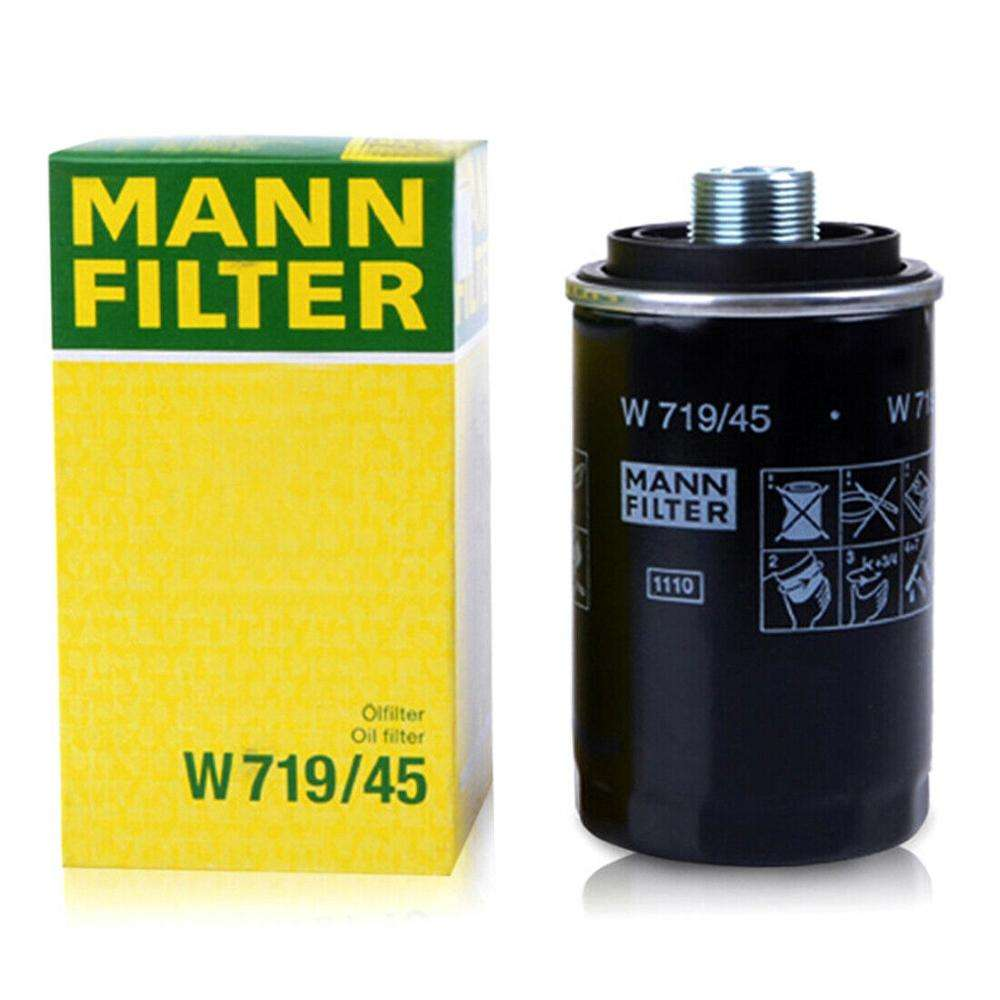 Mann W 719/45 Engine Spin-on Oil Filter Compatible for AUDI A3/A5/A6/TT/ Q5,VW SKODA SEAT,06J 115 40