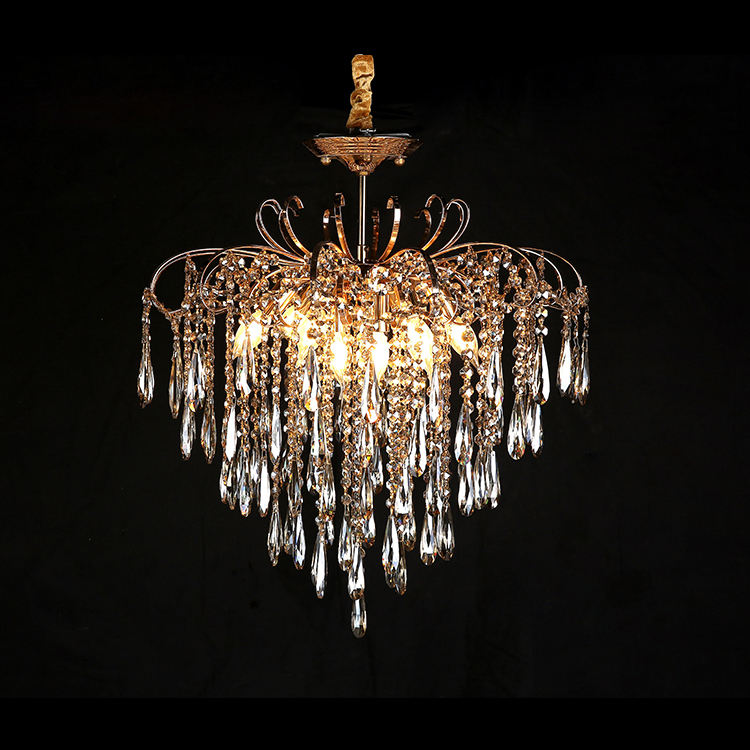 European Crystal Chandelier Manufacturer Home Decoration Living Room Chandelier Luxury Crystal Lamp