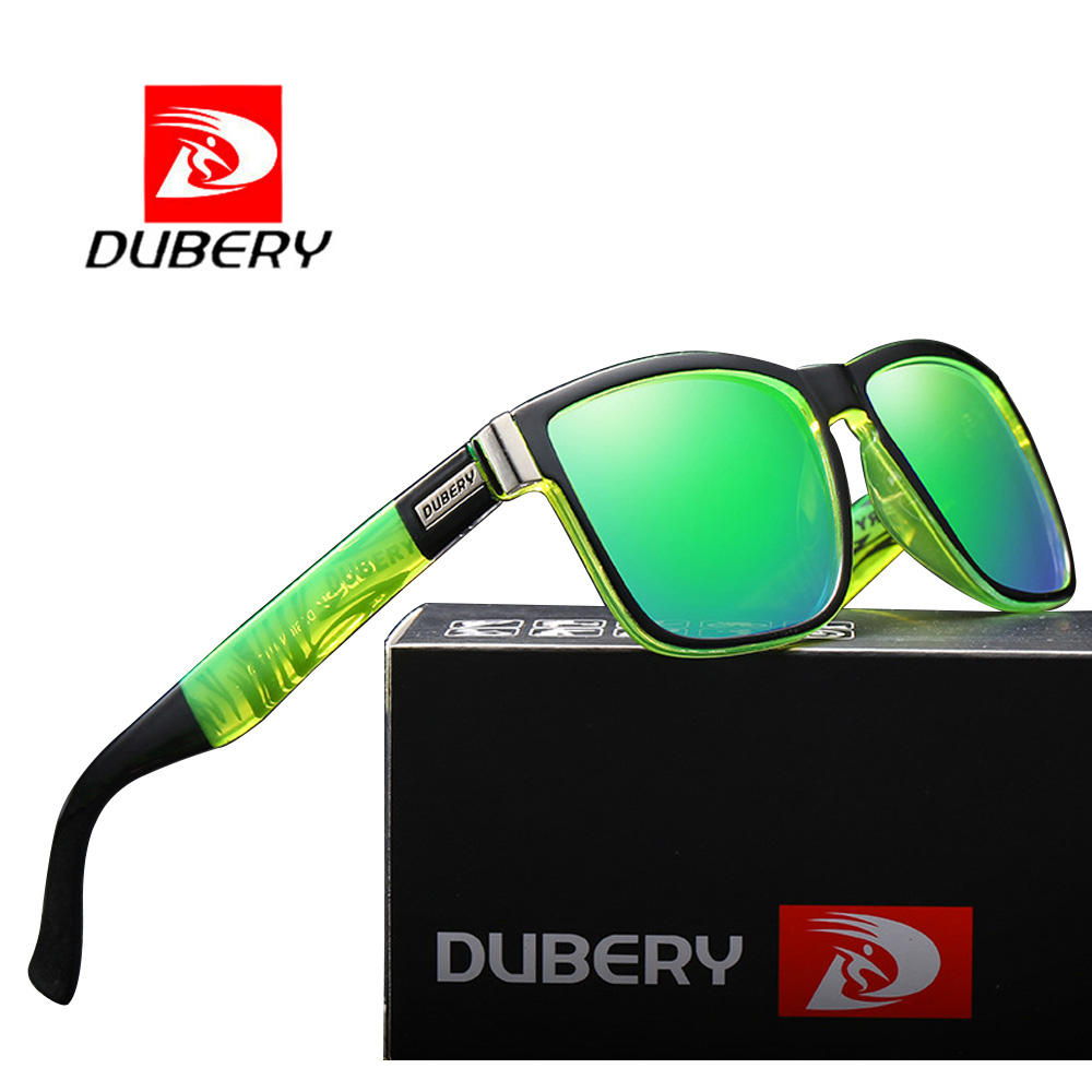 DUBERY D518 Most Popular Mirror Sunglasses Polarized UV400 Italy Design Sun Glasses