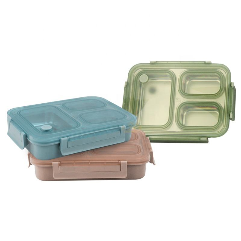 Factory price hot selling products of three-color Nordic style stainless steel bento box