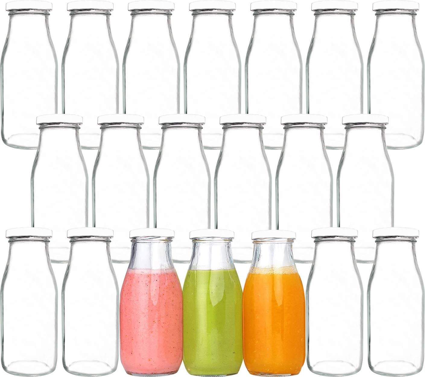 250ml 300ml 420ml 500ml 1000ml food grade round square empty juice milk tea water glass bottle with metal lids
