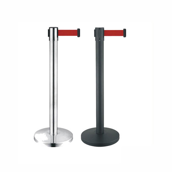Retractable Stainless Steel Queue Stanchion Pole ,Concert Crowd Control Barrier Queue Stand for Sale