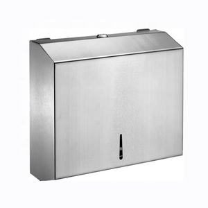 LQS Stainless Steel Paper Towel Dispenser Napkin Holder Silver Wall Mounted A4 Paper Holder Paper Roll Dispenser
