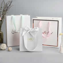 China manufacturers personalised luxury boutique giftbag packaging custom pink paper thank you gift bags with logo print