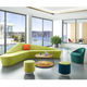 High Class Relax Soft Fabric Sofa Office Reception Sofa