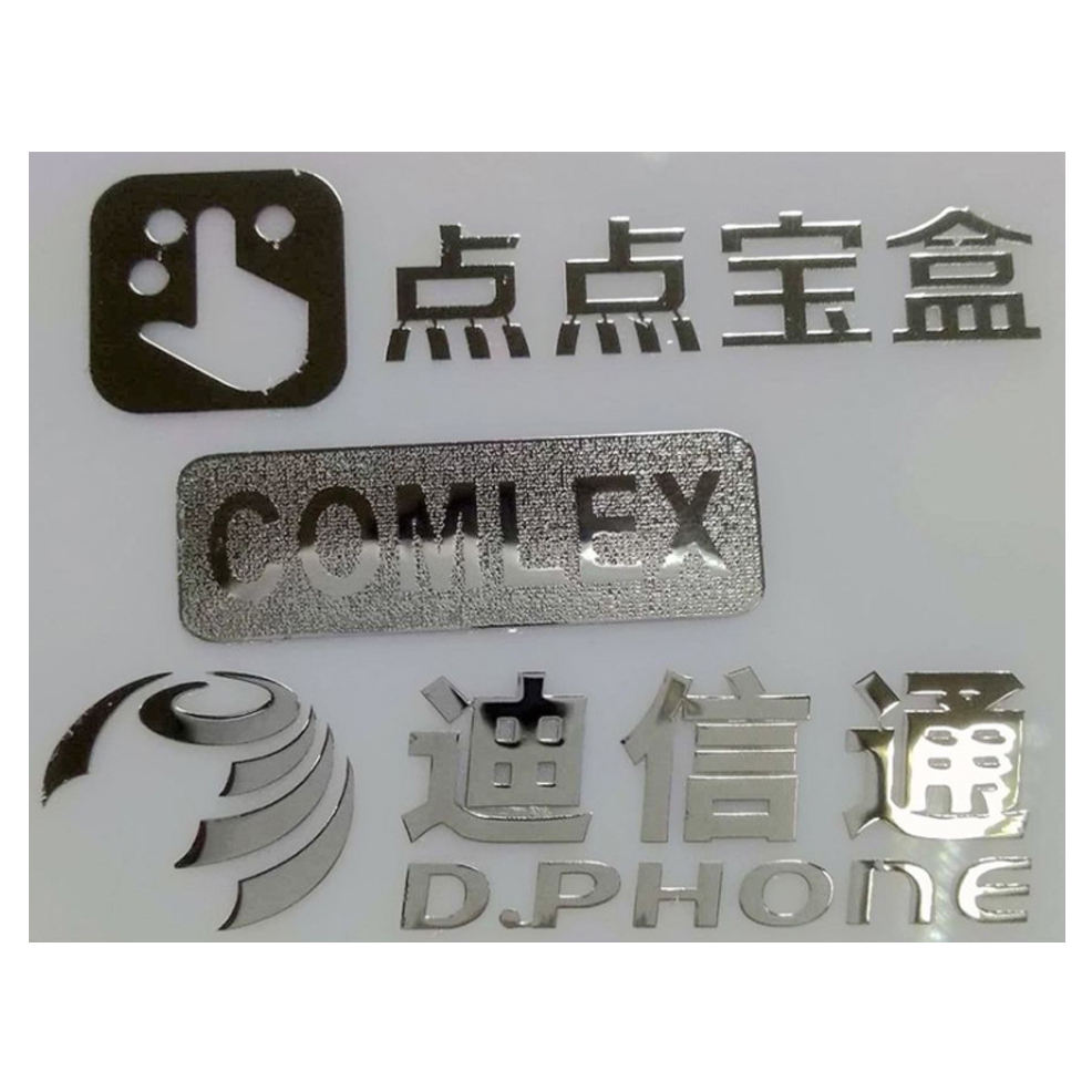 Custom 3d permanent self adhesive paper label 3m brand metal logo decal sticker
