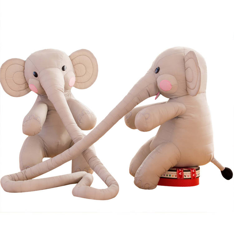 China Manufacturer Fast Shipping plush elephant pillow toys with long nose