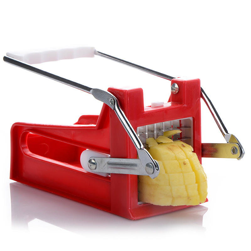 C180 Stainless Steel Potato Cutting Machine Kitchen Gadgets Non-slip French Fries Cutter Home Use Cucumber Slicer Chopper