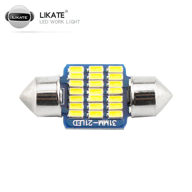 LKT 31mm 36mm 39mm 41mm 3014 6LED SMD Interior reading license Plate dome bulbs C5W led Festoon