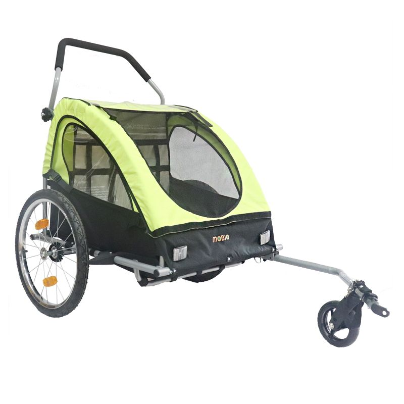 New product foldable luxury bicycle baby stroller/ trailer for 2 kids