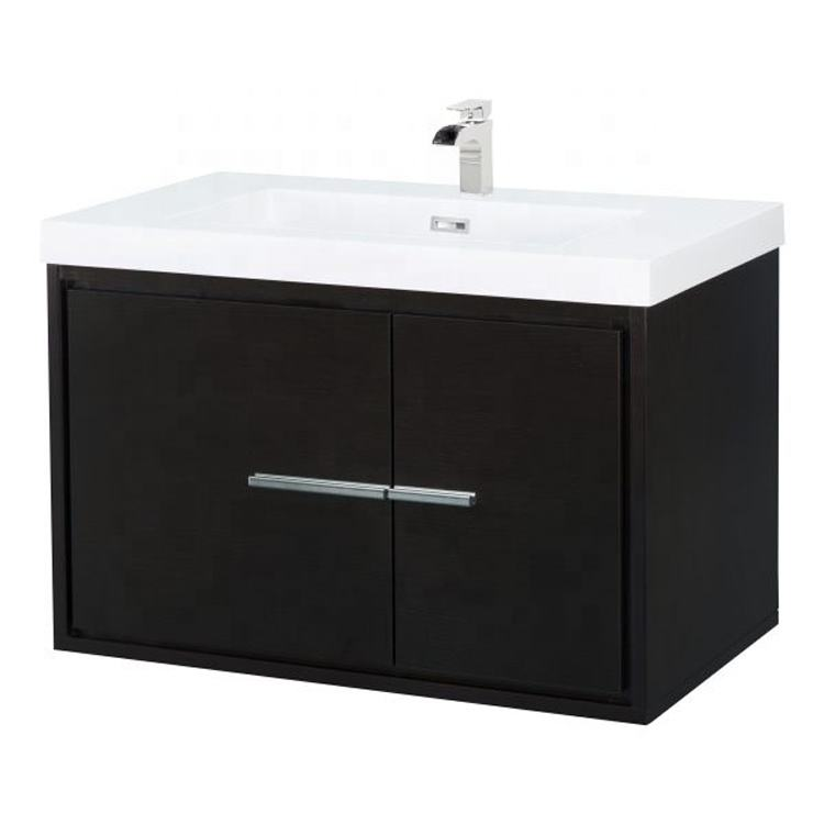 30 inch Espresso wall mounted sink bathroom vanity cabinet