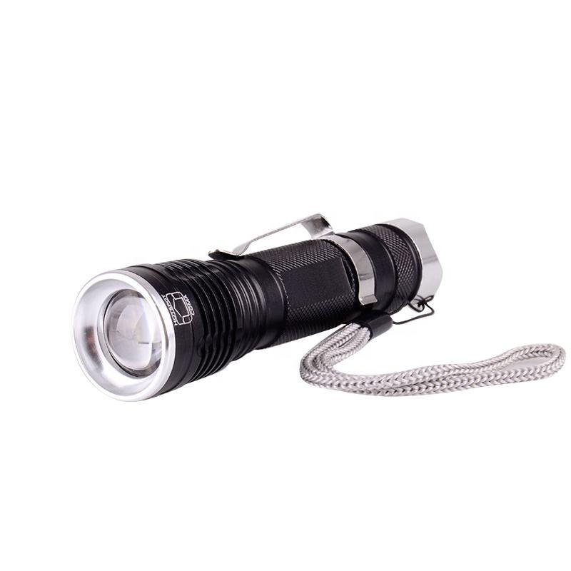 Venta caliente Corea XML T6 LED de Zoom 18650 recargable Linterna de mano al aire libre