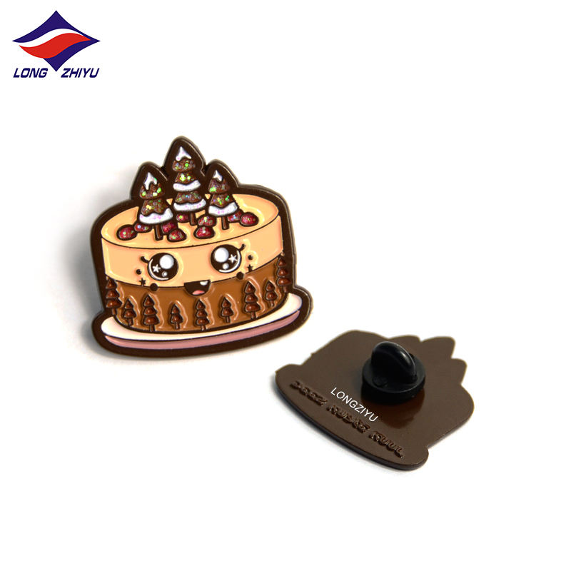 Longzhiyu 14 years metal dye pins manufacturer custom smile pinback button print lapel pins craft insignia pins custom maker