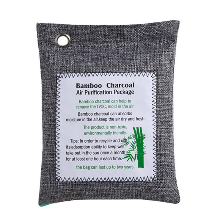 Peculiar Smell Adsorption 200G Natural Air Purifier Purifying Bag Bamboo Charcoal Bag For Home Furniture Shoes and Car