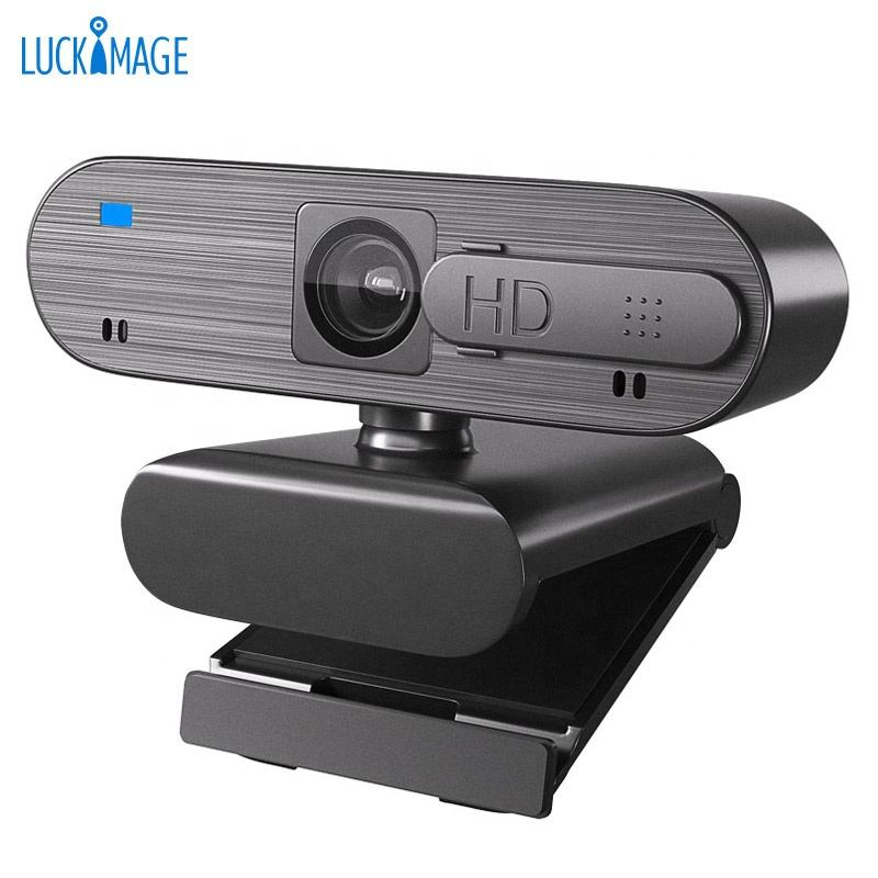 Luckimage HD Webcam 1080P Live Streaming Webcam USB PlugとPlay Web CameraためPC Laptop Desktop