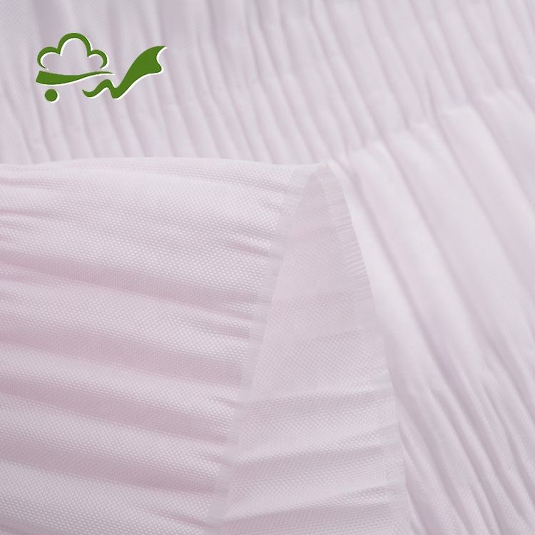 Professional supply ready goods pleat shirred casket lining fabric for coffin