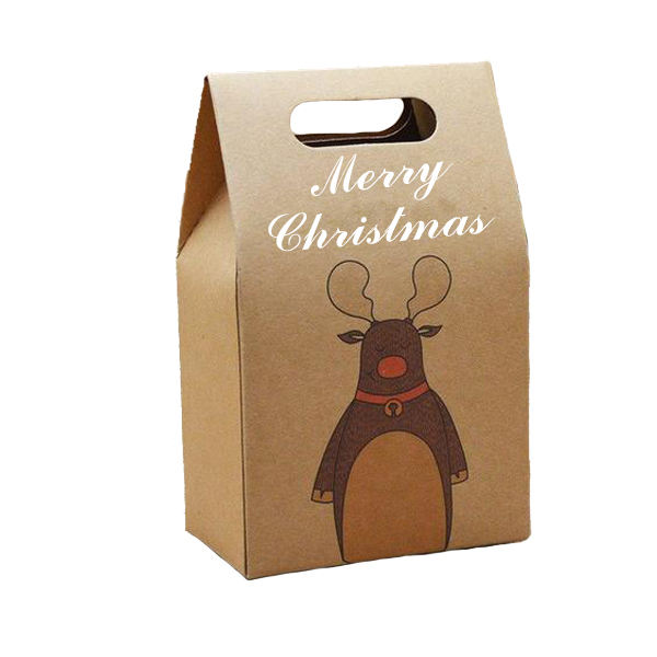 Wholesale Cheap Packing Eco Recyclable Customized Cartoon Christmas Wedding paper bag gift