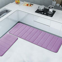 High quality custom design washable cushioned kitchen floor carpets mats