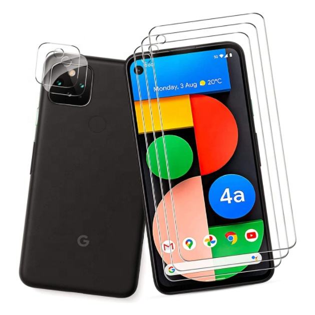 Crystal Clear Shatter Proof Tempered Glass Film Mobile Screen Protector for Google Pixel 4a 5G