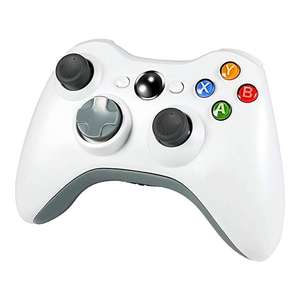 Wireless Controller for Xbox 360 2.4GHZ Gamepad Joystick Controller Remote for Xbox 360 Console & PC Windows 7,8,10 -White