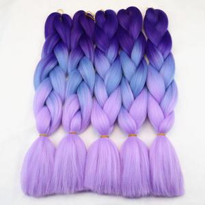 Pink Blue Grey braiding hair Synthetic Crochet Jumbo Braid Hair Extension For Twist Jumbo Braiding Hair