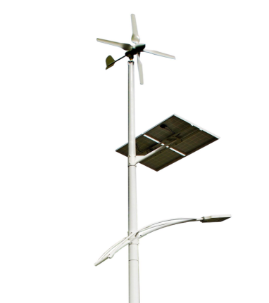 Disesuaikan Solar Wind Power LED Street Light dengan Angin Angin Start-Up