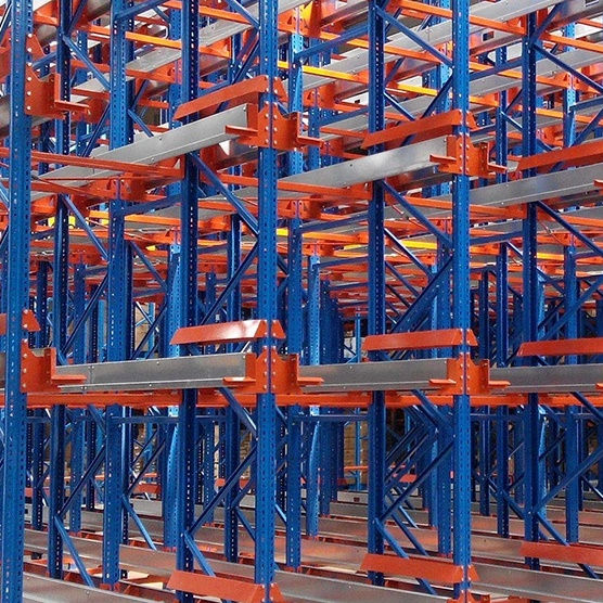High Density Storage Industrial Shelves Automatic Storage Retrieval Radio Shuttle Rack System