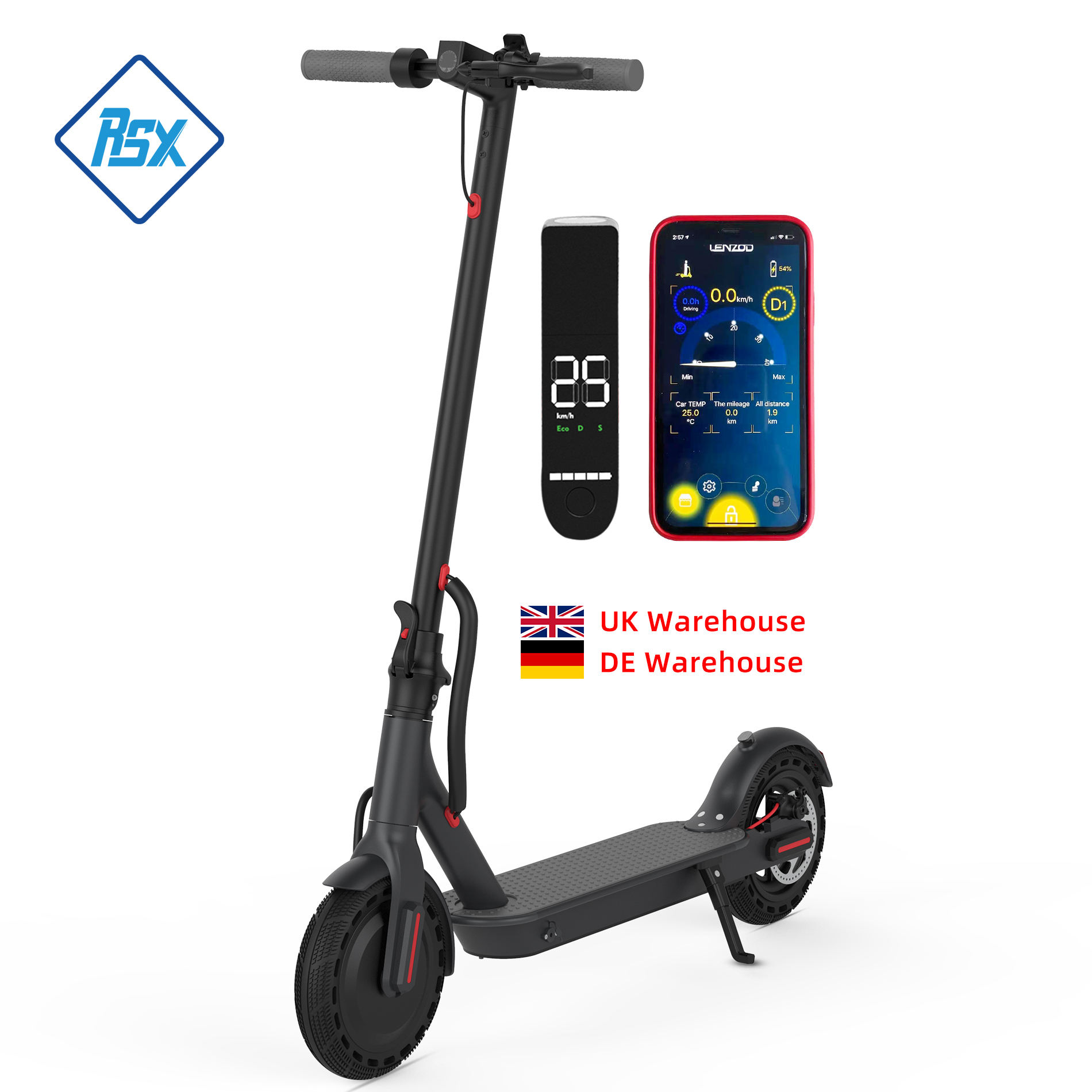 DDP Free Duty europe Germany warehouse 36V 10Ah 350w Skateboard Foldable motorcycle E scooter adult Electric Scooter