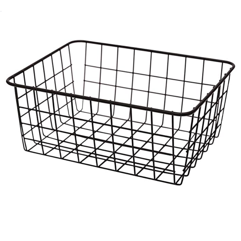 home use organized bins Metal Wire Storage Basket for Kitchen Cabinets, Bathroom, Laundry Room, Closets,
