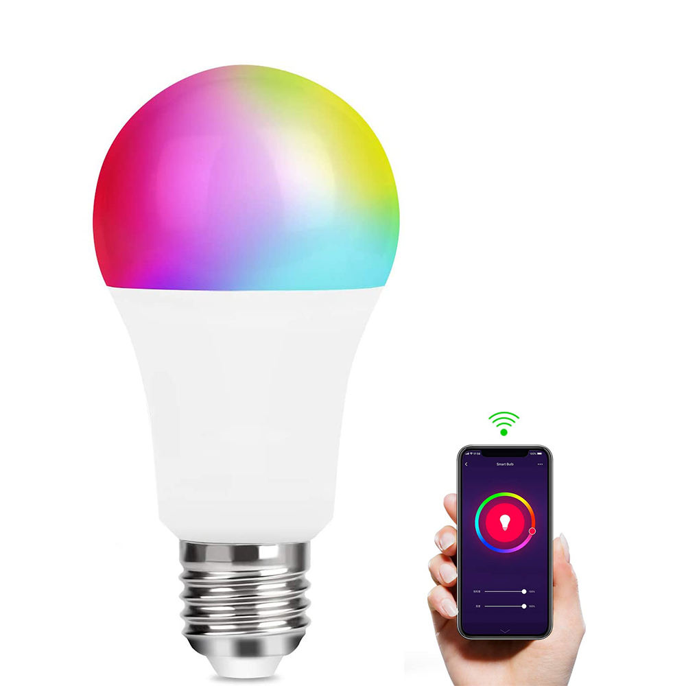 Home Light LED bulb Alexa Google Intelligent and Wifi 9W RGB+CW For Smart Home Tuya APP Control