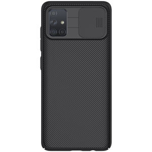 Nillkin Brand Black CamShield Case Slide Camera Cover Hard PC Back Cover Mobile Phone Protective Case For Samsung For Galaxy A71
