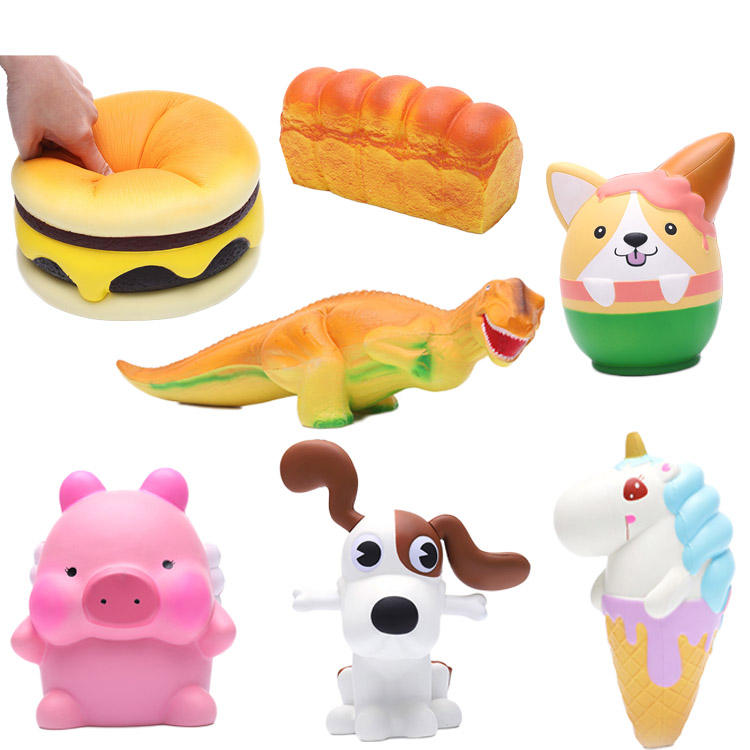China Factory Cute Squishy Slow Rising Squishes Panda Peach Squishi Poo Tooth PU Squishy Toys