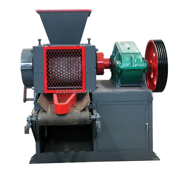 Double Roller press hydraulic roller type coal charcoal briquette machine price for charcoal powder ball briquetting press