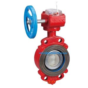 Wafer type eccentric fire signal butterfly valve