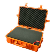 Hard Case Plastic Heavy Duty Trolley Wheels Tool Storage Box Plastic Case with Pick Pluck Foam