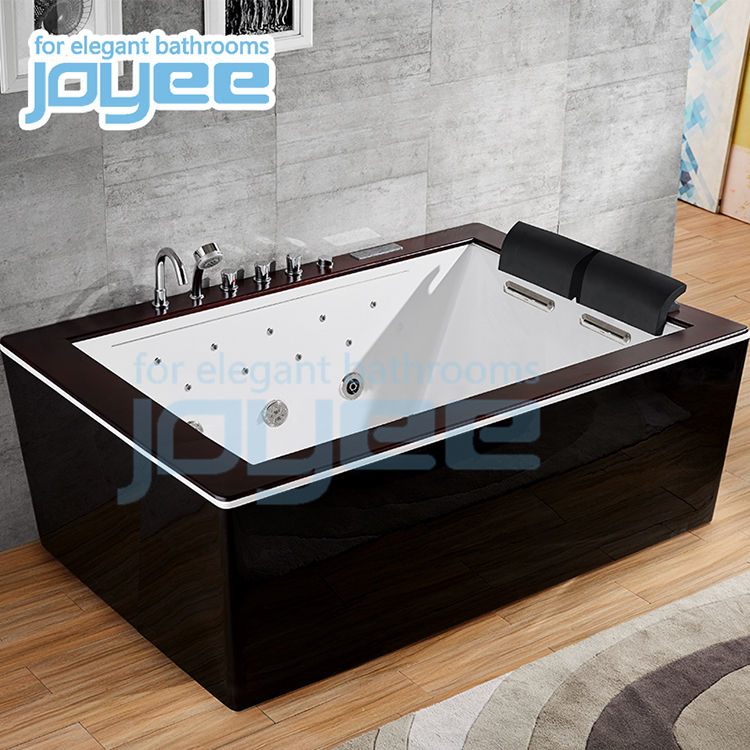 JOYEE NEW 2 people corner acrylic massage jacuzzi whirlpool bathtub spa with jets and computer control panel
