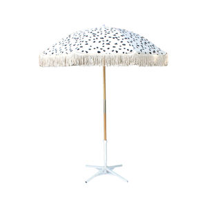 promotional strong outdoor custom uv protection beach umbrella wood