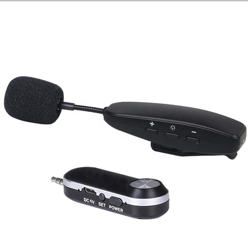 Portable UHF wireless lavalier microphone lapel mic for speech or teacher