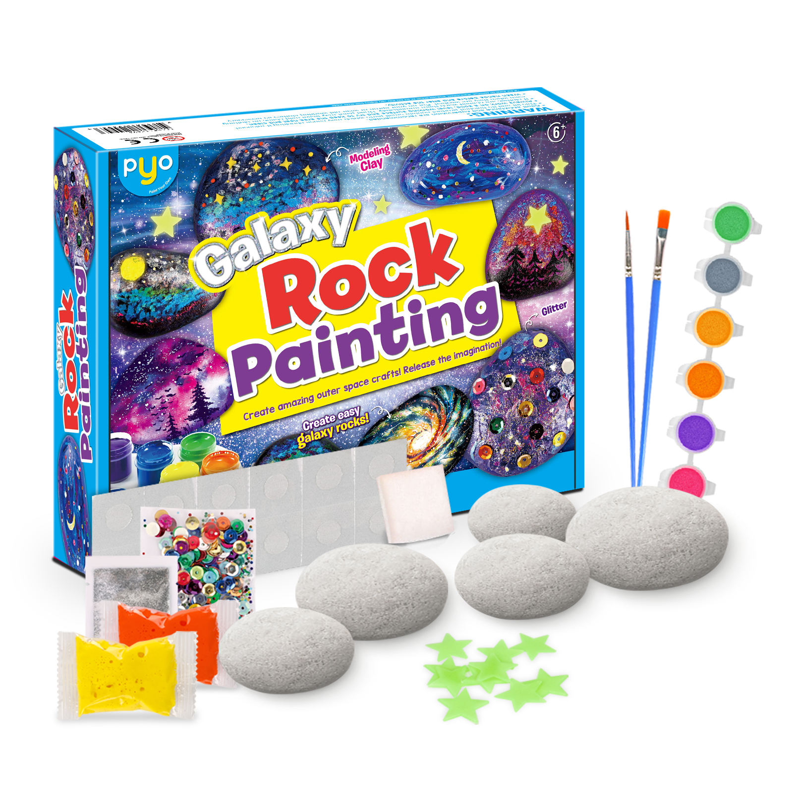 2020 Amazon hot sell rock painting kit Children Diy Arts And Crafts Sets For Kids Rock Painting Kits Other Toys for kids