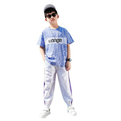 Boy summer suit new fashion big handsome boy short sleeved style clothing sets for boy