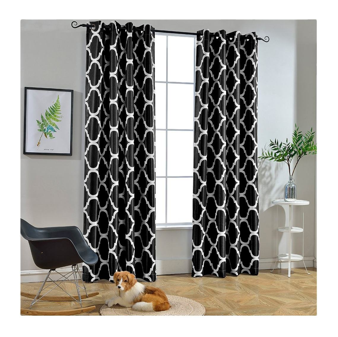 Moroccan Grommet Blackout Printing Window Curtains For The Living Room Ready Made Curtain Fabric