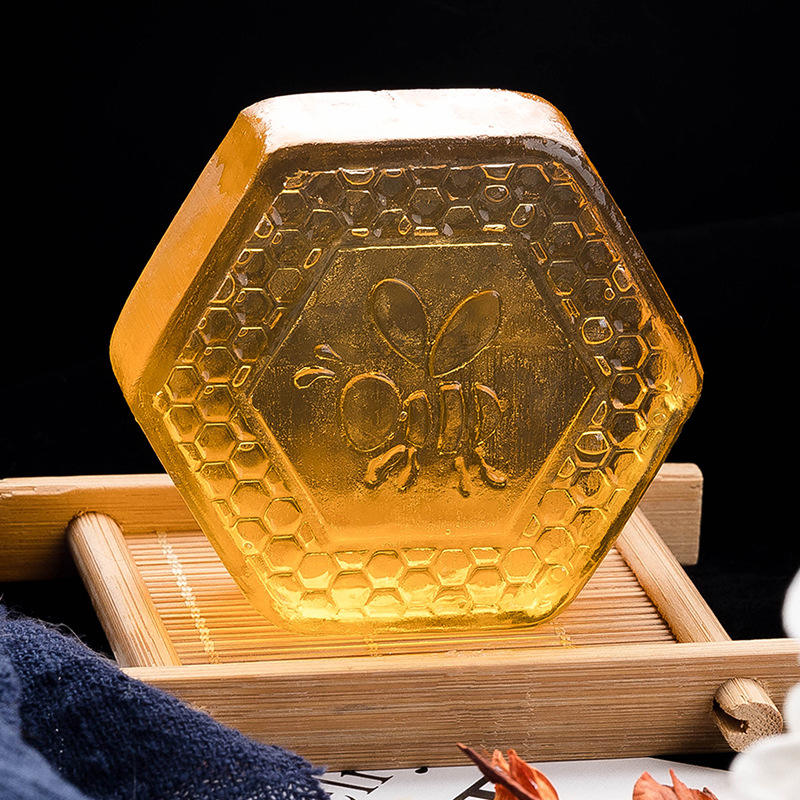 Private label custom manufacturer wholesale Natural Organic sulphur whitening body face handmade bathing honey bar soap
