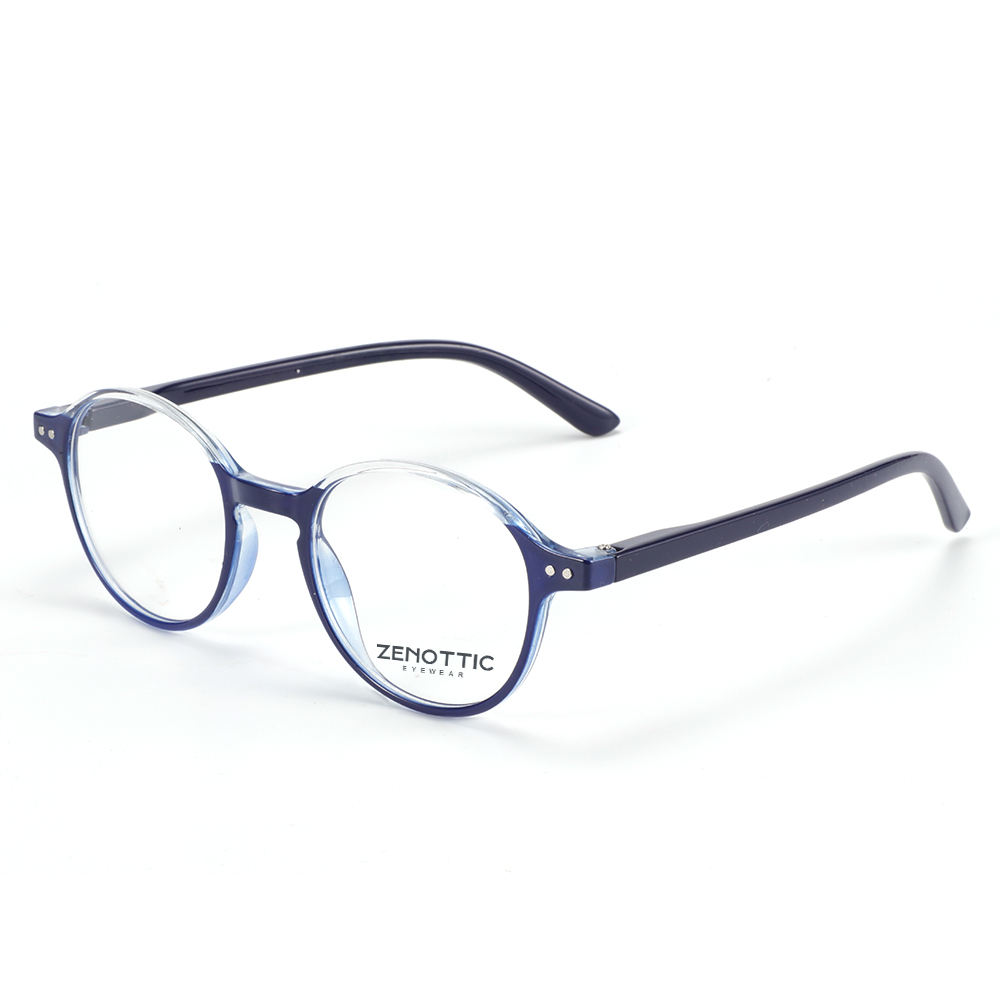 Zenottic Brand Custom Logo Vintage Unisex Plastic Round Color Frame Reading Glasses Eyewear