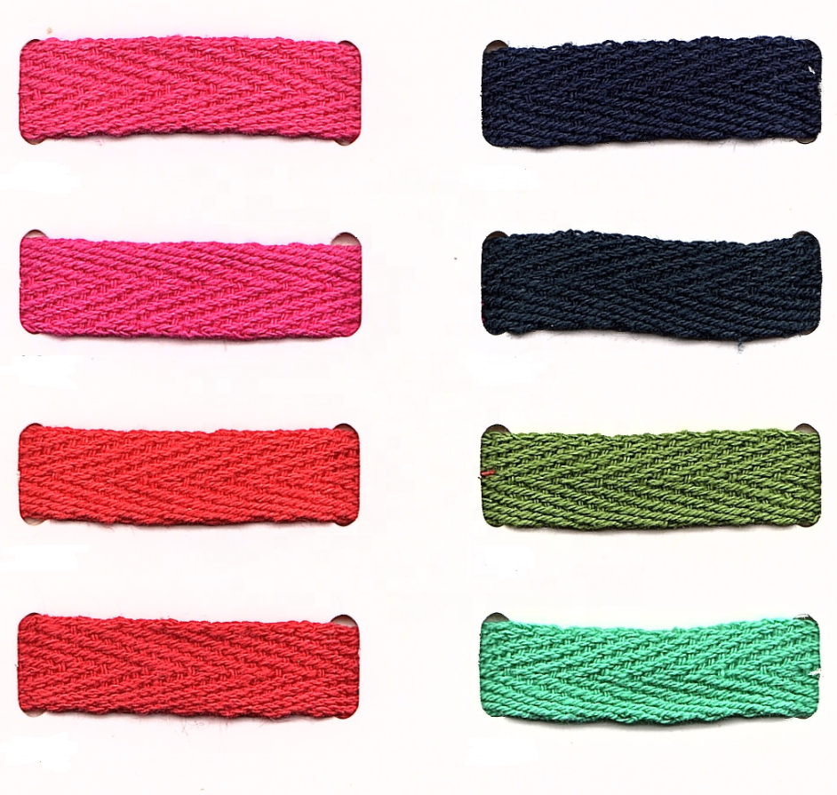 48 Colors China Factory 3/8 inch (10 mm) Cotton Herringbone Tape for sale